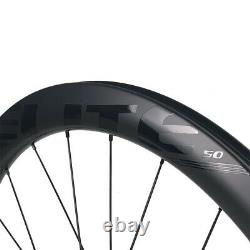 ELITEWHEELS Carbon Wheels Road Disc Brake Wheels 700C Clincher Carbon Wheelset