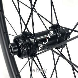 ELITEWHEELS ENT-Disc 700c Road Bike Wheel Carbon Fiber Cyclocross Wheelset 30mm
