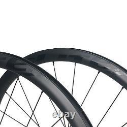 ELITEWHEELS ENT-Disc 700c Road Disc Bike Wheels Carbon Fiber 38mm Cyclocross