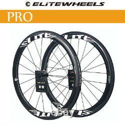 ELITEWHEELS Pro 700c Carbon Road Bike Wheels YAn R10 HUB Clincher Wheelsets