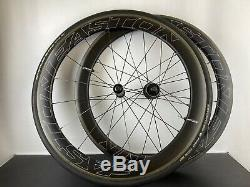 Easton EC90 Aero 55 / SL Carbon Wheel Set Clincher Tubeless Road Bike Wheels
