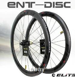 Elite Carbon Wheels Disc Brake 700c Road Bike Wheelset ENT UCI Quality Carbon