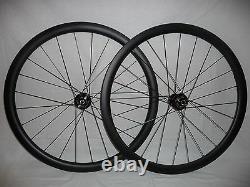 Extra wide 38mm deep disc brake carbon road/gravel/CX bike wheels