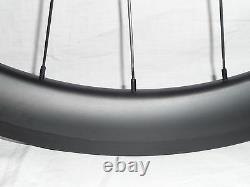 Extra wide 50mm deep carbon disc brake road/gravel bike wheels