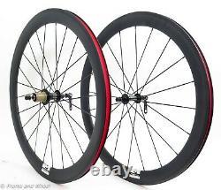 FFWD F4R carbon clincher front rear wheel Shimano 11 speed rim QR road bike