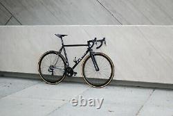 Festka XCr Stainless steel road bike 56 cm frame rim brake bicycle carbon wheels
