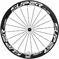 High Quality Clincher 50mm Carbon Wheelset Road Bike 700C Superteam 25mm Wheels