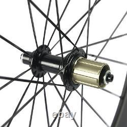 High TG 50mm Road Carbon Wheelset Bike Tubeless 25mm Basalt Brake Carbon Wheels