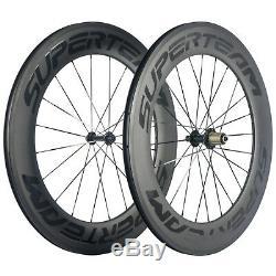 High TG 88mm Carbon Wheelset Superteam Logo Road Bike R13Hub 700C Carbon Wheels