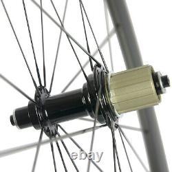 High TG Clincher 50mm Carbon Wheelset Road Bike 700C 25mm R13 hub Carbon Wheels