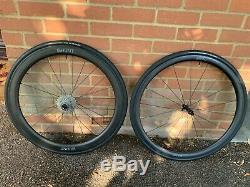 Hunt 3650 Carbon Aero Wheels & Ultegra Cassette (both nearly new) for road bike