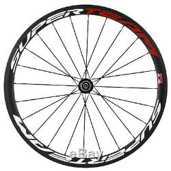 Light Weight Carbon Wheels 38mm Clincher Road Bike Carbon Wheelset 700C Race