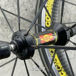 MAVIC Carbon Fiber Wheel Set COSMIC SL SSC Carbone 700c Aero Road 10s 20h 16h