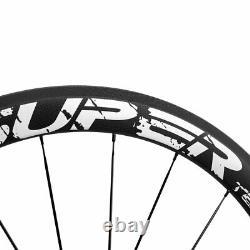 NEW 700C Clincher Carbon Wheelset 50mm Road Bike Superteam Carbon Wheels R13 Hub