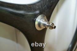 New Old Stock Pair Of Spin Carbon Tri Spoke Road Bike Wheels 700c X 23c Nos