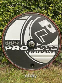 New Pro-lite Padova Clincher Rear Disc Wheel. Unique For Road Or Track Use