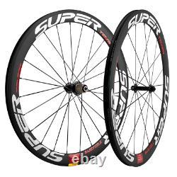 New model 700C Carbon Wheels Superteam Carbon Wheelset 50mm Road Bicycle Wheels