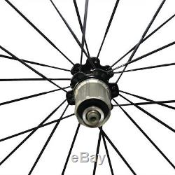 One Day Free Shipping CSC 700C 50mm Carbon Bicycle Wheelset Road Bike Wheels
