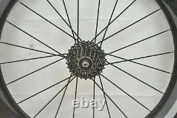 Planet X 700c Rear Road Wheel Super Light Hub Black OLW130 24S Carbon PV Charity