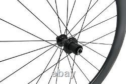 RIM BRAKE Carbon wheels clincher matt road bicycle wheelset 700C Tubeless 55mm