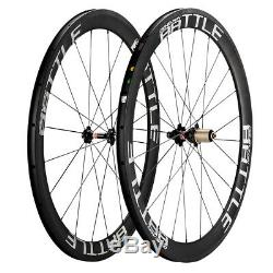 Road Bike Wheels 50mm Depth 25mm V-Brake 700C Carbon Clincher Bicycle Wheelset