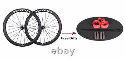 Road Bike Wheels Carbon Wheelset Clincher Matt 700C Quickly Release Rim Brak