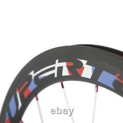 Road Carbon Wheelset 50mm Superteam Carbon Wheels Basalt Clincher Novatec Hub