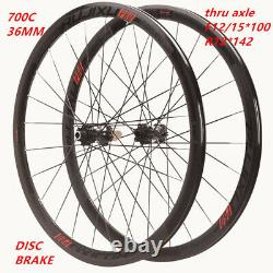 Road bike wheels h36mm carbon hub Quick release and thru axle for Disc brake