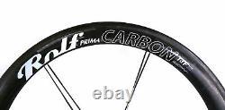 Rolf TDF 58 Road Bike Front Wheel 700c Tubular Carbon Rim Brake QR Black
