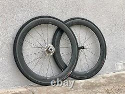Roval Rapide CLX 60 Road Bike Wheel Set 700c Carbon Clincher Shimano with Bags