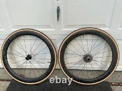 Roval Rapide CL 50 Road Wheel Set Carbon Tubeless Clincher Shimano 11 Sp Disc