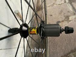 Ruote MAVIC COSMIC CARBONE SL SSC copertoncino road wheels clincher SHIMANO 11v