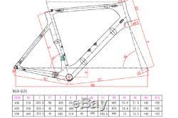 SARONI 49cm AERO Carbon Bike Frame Fork Wheel Road Bicycle 700C Clincher V brake