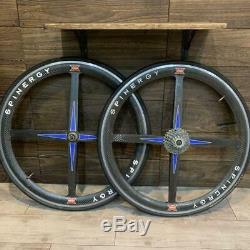 SPINERGY REV-X Tubular Carbon 700C Road Bike wheel clincher Shimano Ultegra 11S