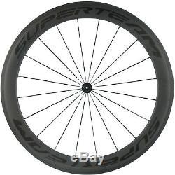 SUPERTEAM 23mm Width 60/88 Carbon Wheels Road Bike Clincher Bicycle R13 Hub 700C
