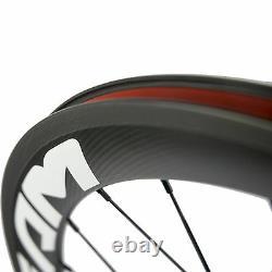 SUPERTEAM 50mm Carbon Wheelset Clincher Wheels Road Bike R13 Hub Wheelsets