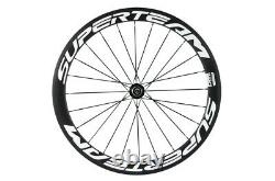 SUPERTEAM 700C Cycling Carbon Wheel 50mm Road Bike Wheelset R13 Clincher Wheels