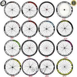 SUPERTEAM 700C Road Bicycle Wheelset 50mm Clincher Bike Wheels R13 Hub
