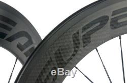 SUPERTEAM 88mm Bicycle Carbon Wheelset Clincher Road Wheels R13 Hub 700C Matte