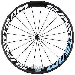 SUPERTEAM Full Carbon Road Cycling Wheelset 23mm Width 50mm Clincher Wheels R13