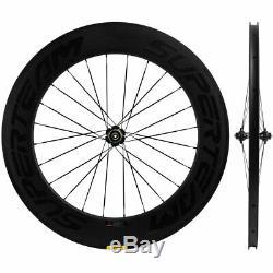SUPERTEAM Road Bike Carbon Wheelset 50/88mm 700C Cycle Wheels Novatec Hub Matte