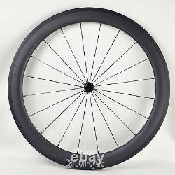 Sapim CX-RAY Carbon Clincher 50mm Wheel 27mm 700C Powerway Road Bike UD Matt Rim