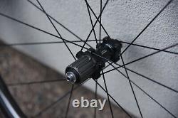 Shimano Dura-Ace C24 Carbon Road Bike Clincher TLR Wheel Set Sram 11 Speed QR