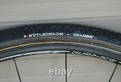 Shimano Dura Ace WH-7801 Carbon tubular road cyclocross wheels CX tires mounted