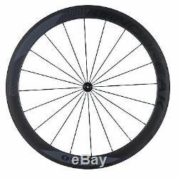 Super light Carbon Bicycle Wheelset 50mm Clincher Road Bike Wheels 700C Carbon