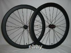 Super wide 50mm deep carbon disc brake road/gravel bike wheels