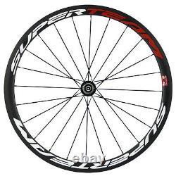 Superteam 38mm Carbon Fiber Road Bike Clincher Wheels 23mm Bicycle Wheelset