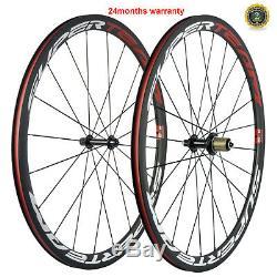 Superteam 38mm Carbon Wheelset Road Bike Clincher/Tubeless/Tubular Carbon Wheels
