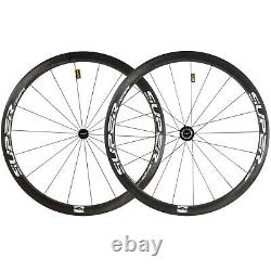 Superteam 40mm Carbon Wheels 25mm Width Hubsmith Ceramic Carbon Wheels Road Bike