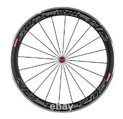 Superteam 50mm&80mm Carbon Wheelset Aluminum Brake Surface Road Bike Wheels 700C
